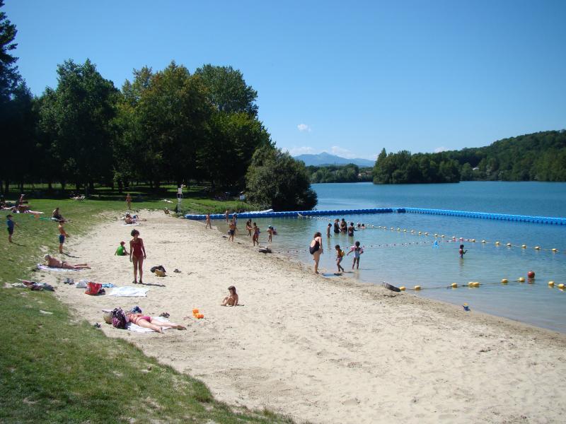 Baignade du lac à Montréjeau, Station Verte Pavillon Bleu